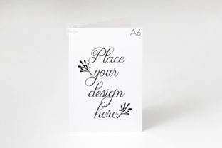 Print on Demand: Vertical A6 A5 Greeting Card Mockup Graphic Product Mockups By Leo Flo Mockups