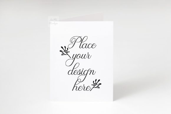 Print on Demand: Vertical Greeting Card Mockup Photo Graphic Product Mockups By Leo Flo Mockups