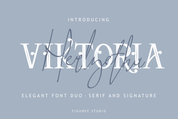Print on Demand: Viktoria Duo Serif Font By figuree studio