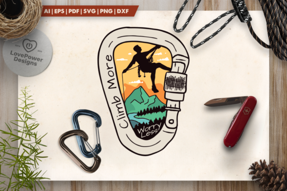 Download Free Vintage Climbing Logo Patch Graphic By Lovepowerdesigns for Cricut Explore, Silhouette and other cutting machines.