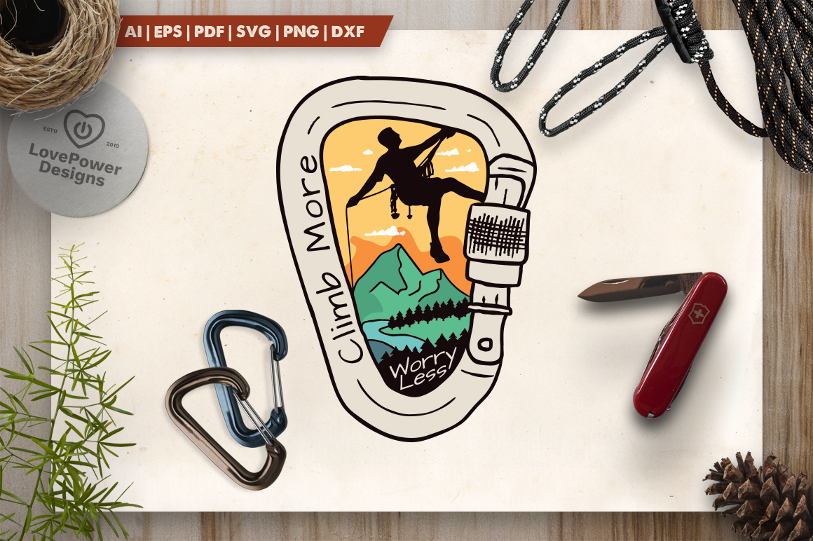 Vintage Climbing Logo Patch Graphic By Lovepowerdesigns Creative Fabrica