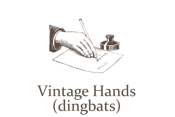 Print on Demand: Vintage Hands Dingbats Font By Intellecta Design