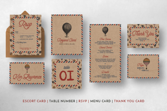 Download Free Vintage Travel Wedding Suite Grafico Por Blue Robin Design Shop SVG Cut Files