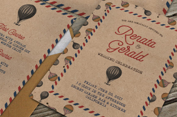 Print on Demand: Vintage Travel Wedding Suite Graphic Print Templates By Blue Robin Design Shop
