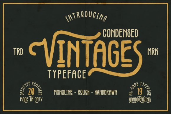 Print on Demand: Vintages Display Font By Garisman Studio