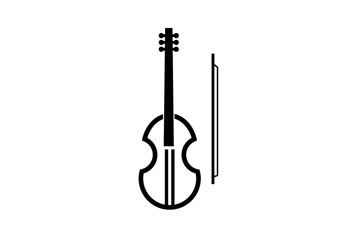 Download Free Violin Music Icon Vector Graphic By Hoeda80 Creative Fabrica for Cricut Explore, Silhouette and other cutting machines.