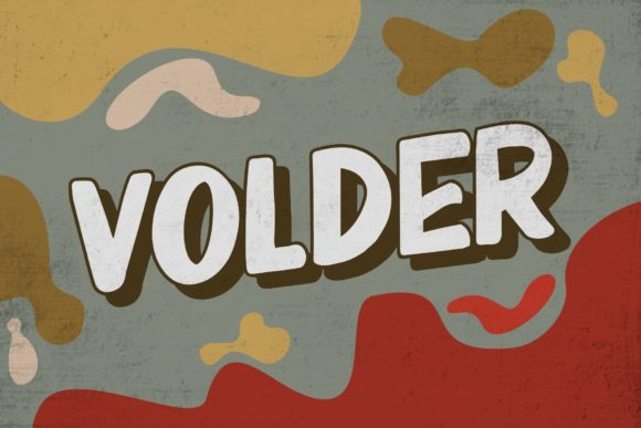 Print on Demand: Volder Display Font By goodjavastudio