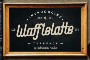 Print on Demand: Waffle Latte Family Display Font By putracetol