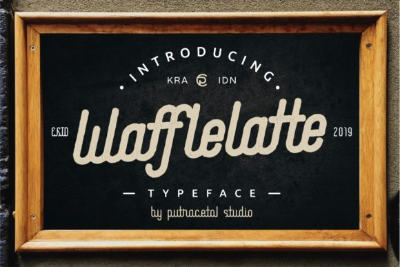 Print on Demand: Waffle Latte Family Display Font By putracetol - Image 1