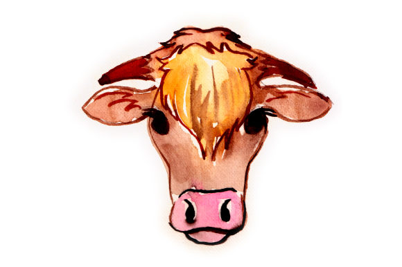 Watercolor Cow Craft Design By Creative Fabrica Crafts Image 1