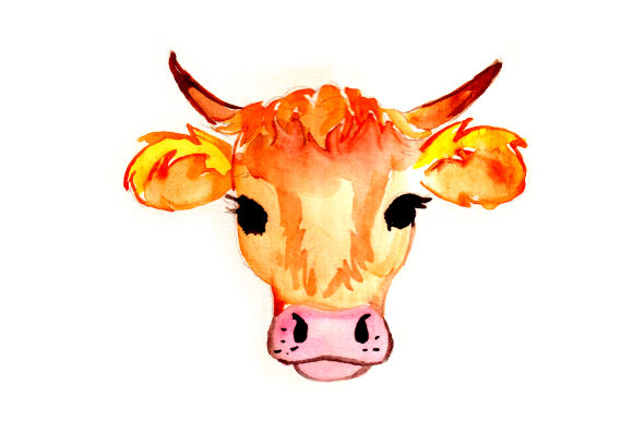 Download Free Watercolor Cow Svg Cut File By Creative Fabrica Crafts for Cricut Explore, Silhouette and other cutting machines.