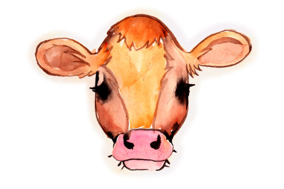 Watercolor Cow Craft Design By Creative Fabrica Crafts