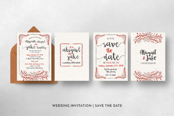 Print on Demand: Watercolor Floral Invitation Suite Graphic Print Templates By Blue Robin Design Shop - Image 6