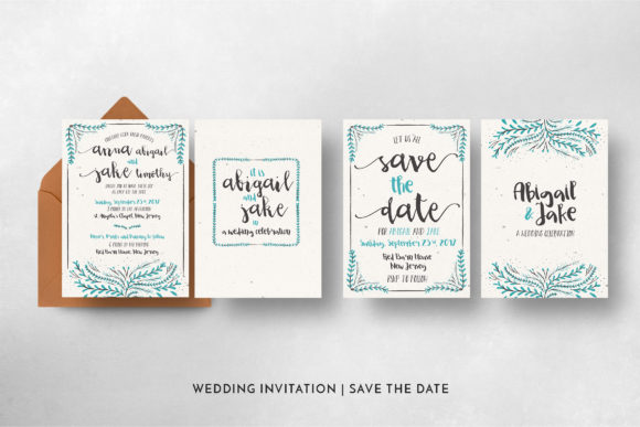 Print on Demand: Watercolor Floral Invitation Suite Graphic Print Templates By Blue Robin Design Shop - Image 8