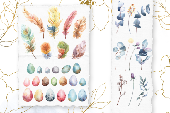 Download Free Watercolor Spring Floral Collection Graphic By Tatianatroian Art for Cricut Explore, Silhouette and other cutting machines.