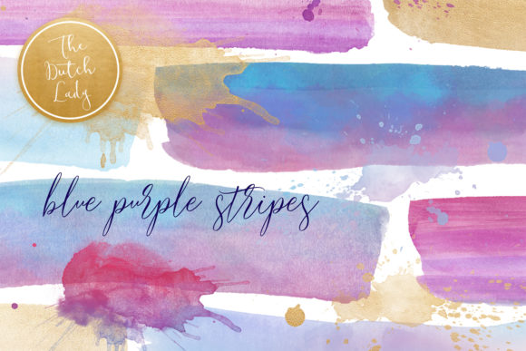 Print on Demand: Watercolor Stripe Clipart Graphic Crafts By daphnepopuliers