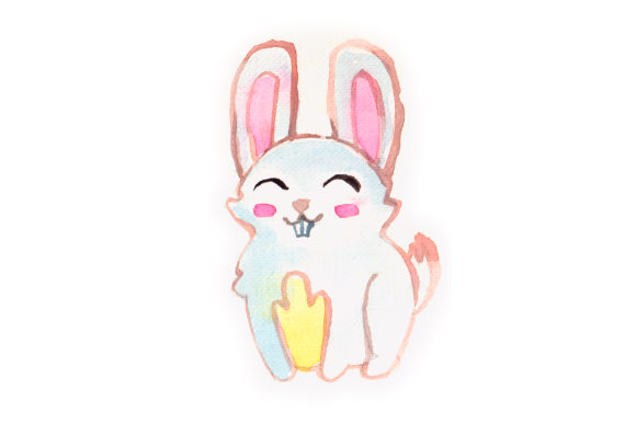 Download Free Watercolor Bunny Svg Cut File By Creative Fabrica Crafts for Cricut Explore, Silhouette and other cutting machines.