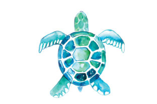 Watercolor Turtle Animals Craft Cut File By Creative Fabrica Crafts