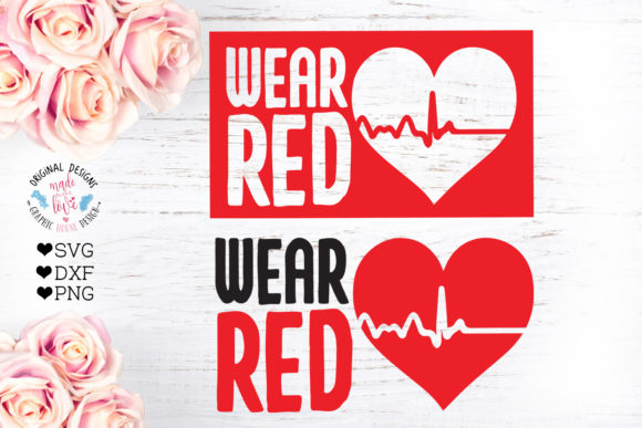 Print on Demand: Wear Red - Aids Awareness Cut File Graphic Crafts By GraphicHouseDesign