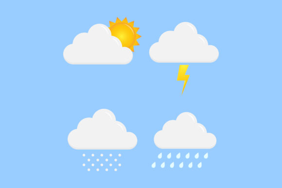 Print on Demand: Weather Icon Vector Design Graphic Icons By sabavector