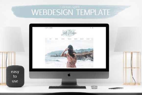 Webdesign Template Blog Graphic By switzershop