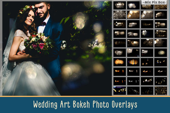 Print on Demand: Wedding Art Bokeh Photo Overlays Graphic Layer Styles By MixPixBox