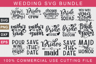 Download Free Wedding Bundle Graphic By Graphicsqueen Creative Fabrica for Cricut Explore, Silhouette and other cutting machines.