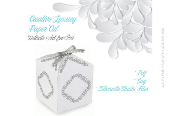 Print on Demand: Wedding Gift Box Graphic 3D SVG By jgalluccio