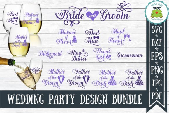Wedding Party Bundle Graphic Crafts By funkyfrogcreativedesigns