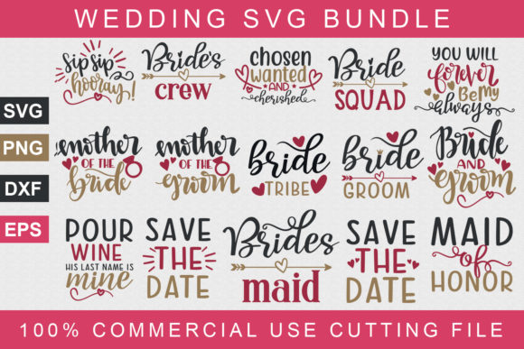Wedding Bundle Graphic Print Templates By Graphicsqueen