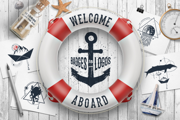 Welcome Aboard Logo Bundle Graphic Logos By Cosmic Store