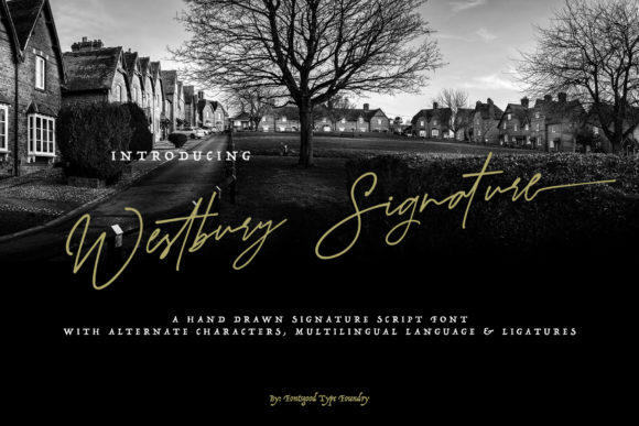 Print on Demand: Westbury Signature Manuscrita Fuente Por fontsgood