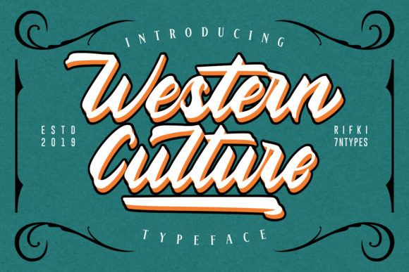 Print on Demand: Western Culture Script & Handwritten Font By Rifki (7ntypes)