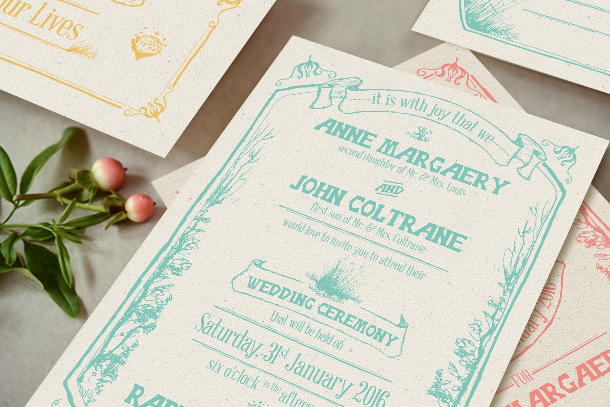 Download Free Whimsical Forest Wedding Invitation Suite Graphic By Blue Robin SVG Cut Files