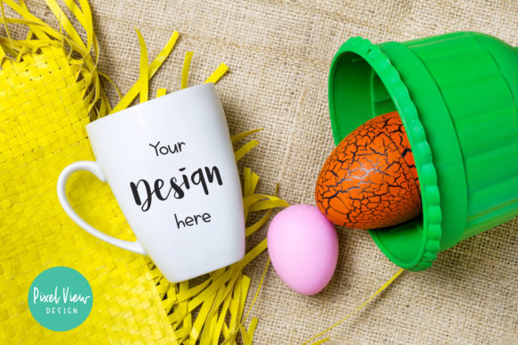 Print on Demand: White Coffee Mug - Easter Mockup Graphic Product Mockups By Pixel View Design