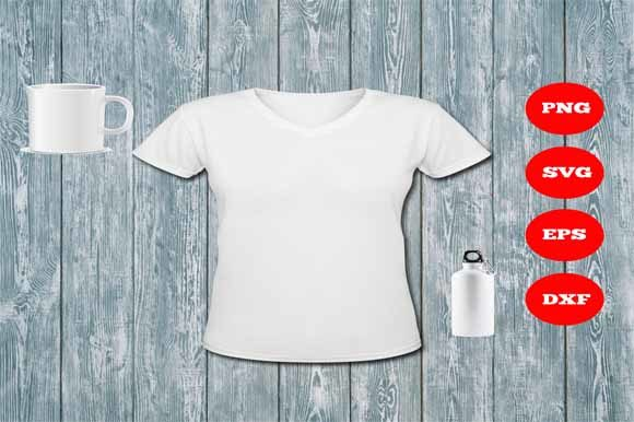 White T-Shirt Mock Up Graphic Product Mockups By Sweet Southern Charms  - Image 1