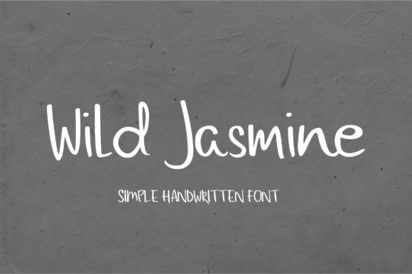 Print on Demand: Wild Jasmine Script & Handwritten Font By sunday nomad