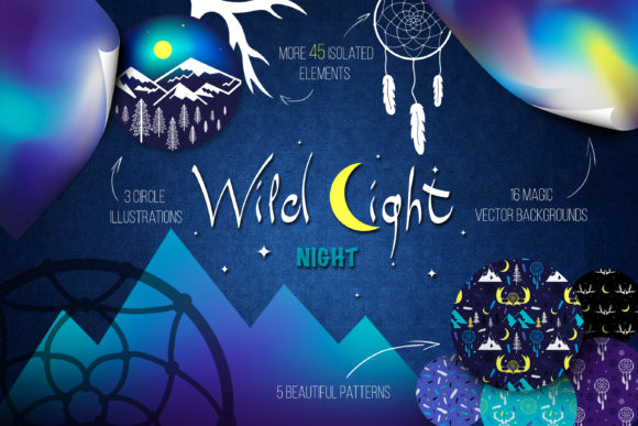 Print on Demand: Wild Light Night Graphic Illustrations By azovskaya