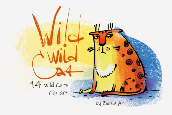 Print on Demand: Wild Wild Cats Graphic Illustrations By Zooza Art