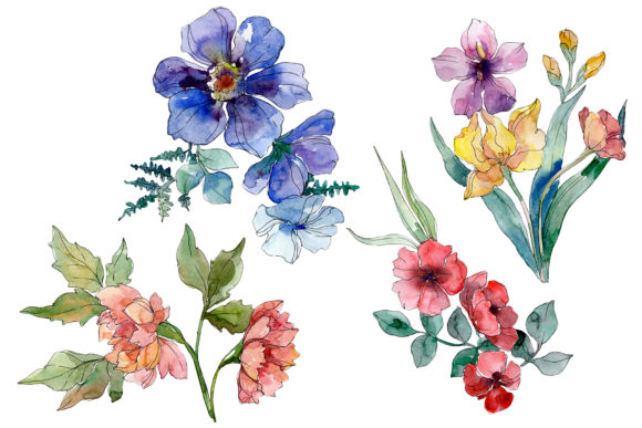 Wildflowers Watercolor Png (Graphic) by MyStocks ...