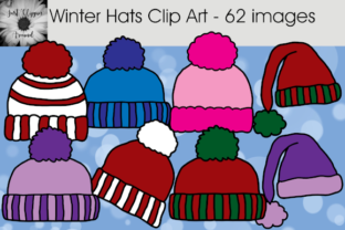 Download Free Winter Hats Clip Art 62 Graphics Graphic By Justclippinaround for Cricut Explore, Silhouette and other cutting machines.