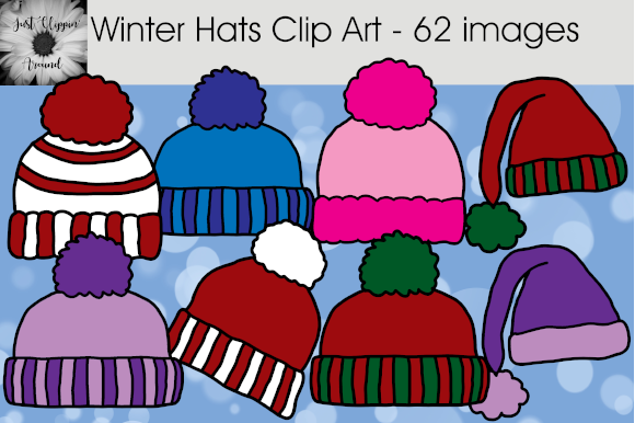 Winter Hats Clip Art - 62 Graphics (Graphic) by ...