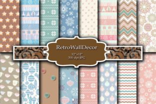 Winter Papers Graphic By retrowalldecor