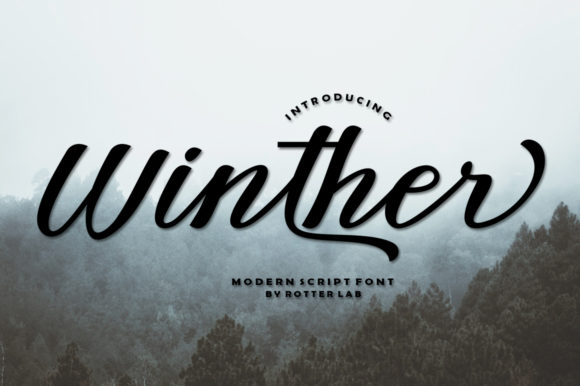 Print on Demand: Winther Script Script & Handwritten Font By rotterlabstudio