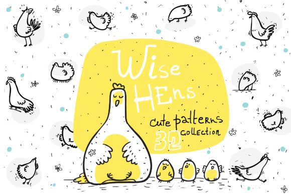 Print on Demand: Wise Hens Collection Graphic Patterns By Zooza Art