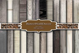 Wood Digital Paper Graphic By retrowalldecor