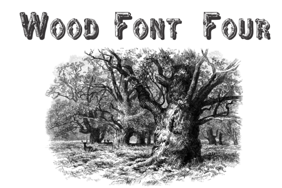Print on Demand: Wood Font Four Display Font By Intellecta Design