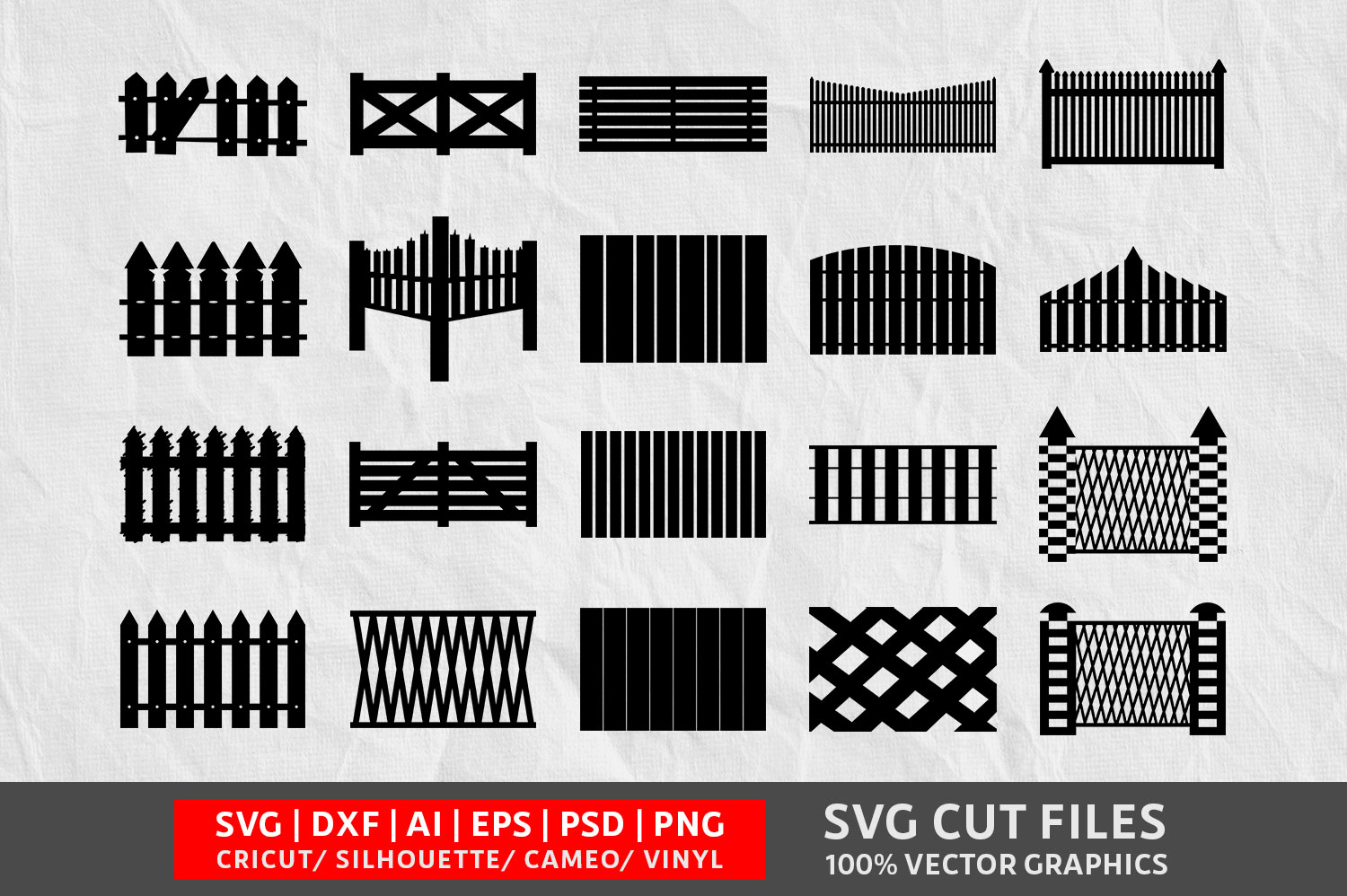 Download Free Wooden Fence Graphic By Design Palace Creative Fabrica for Cricut Explore, Silhouette and other cutting machines.