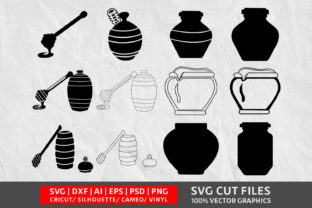 Download Free Wooden Honey Pot Svg Graphic By Design Palace Creative Fabrica for Cricut Explore, Silhouette and other cutting machines.