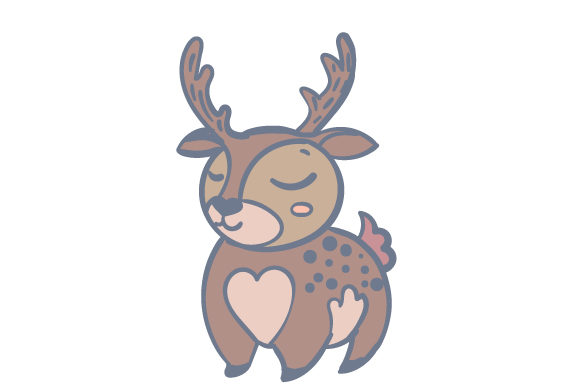 Download Free Woodland Animal Deer Svg Cut File By Creative Fabrica Crafts for Cricut Explore, Silhouette and other cutting machines.